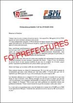 D claration pr alable cap du 29 mars 2018 fo pr fectures - Grille indiciaire adjoint administratif 1ere classe ...